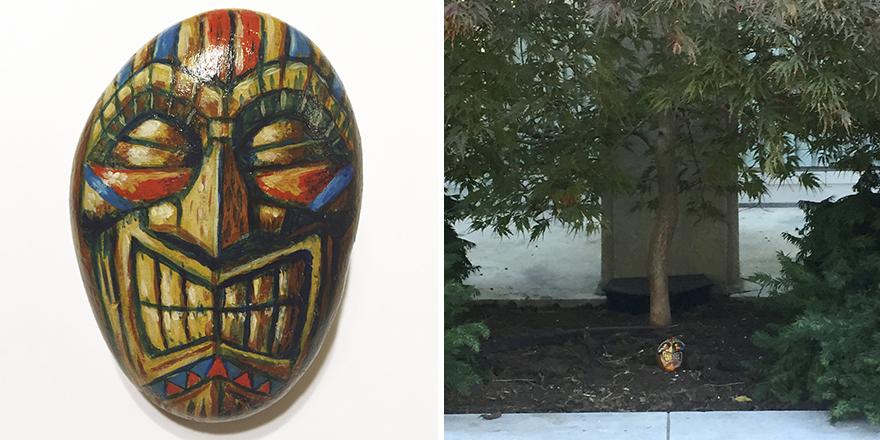 """Tiki"" Rock Left At Moore College Of Art In Philadelphia"