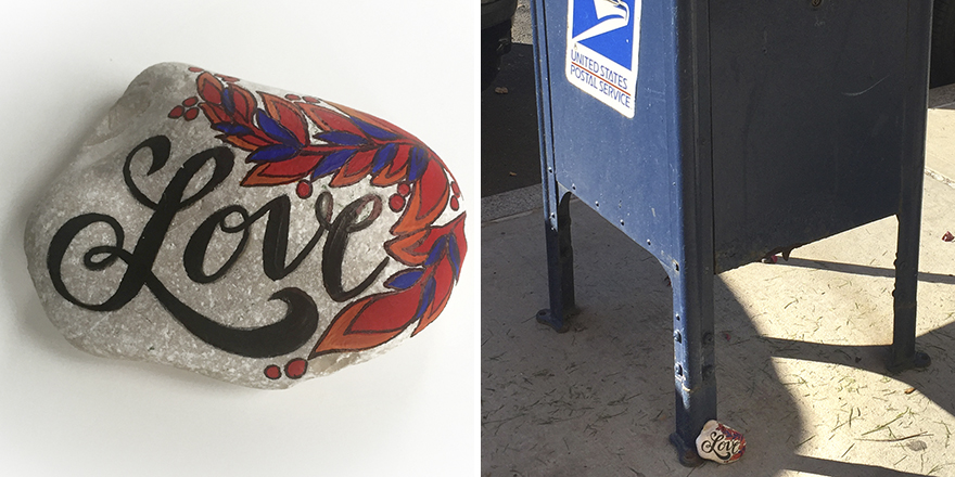 A Bit Of Love Left At USPS Mailbox In Brooklyn, New York