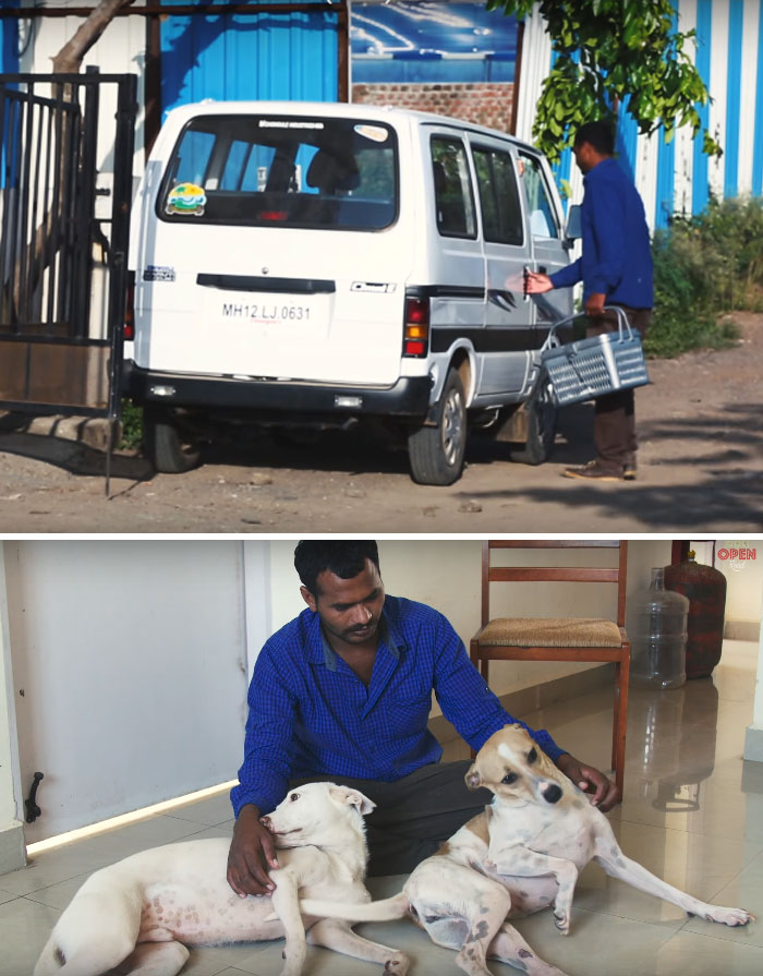 Man Saves Up Money For Over A Decade To Buy An Ambulance And Help Stray Animals In His City
