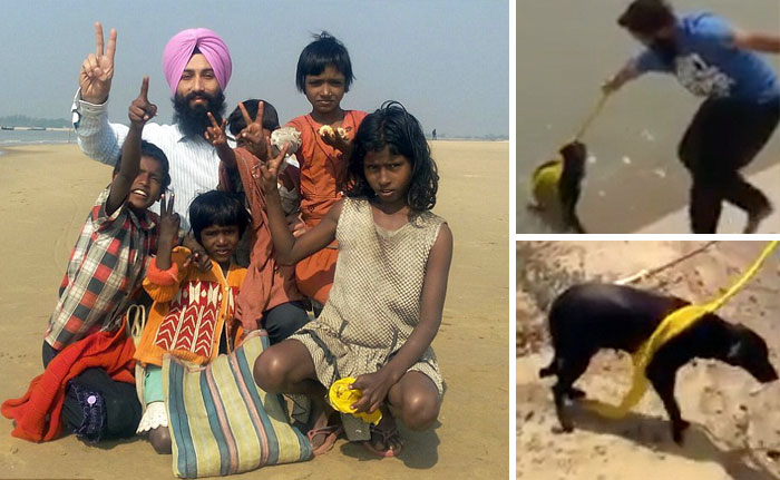 This Man Removed His Turban To Save A Drowning Dog