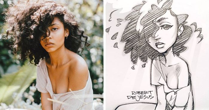 Illustrator Turns Strangers Into Anime Characters