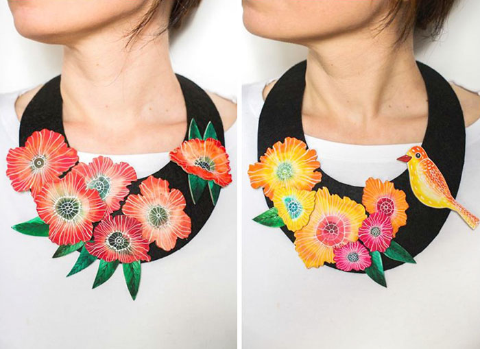 Artist Creates Art Necklaces With A Touch Of Frida