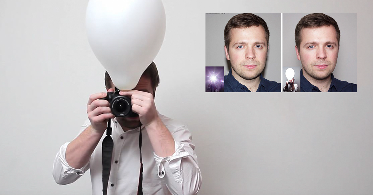 Using A Balloon Lets You Take Better Pop-Up Flash Photos, And The Difference Is Amazing