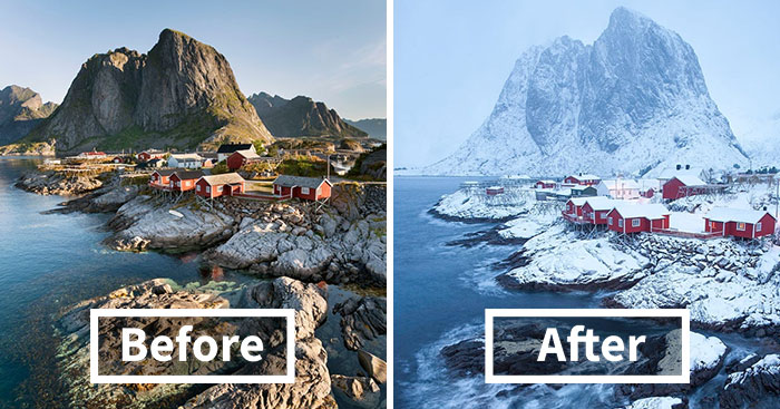 10+ Before-And-After Photos Of Winter's Beautiful Transformations