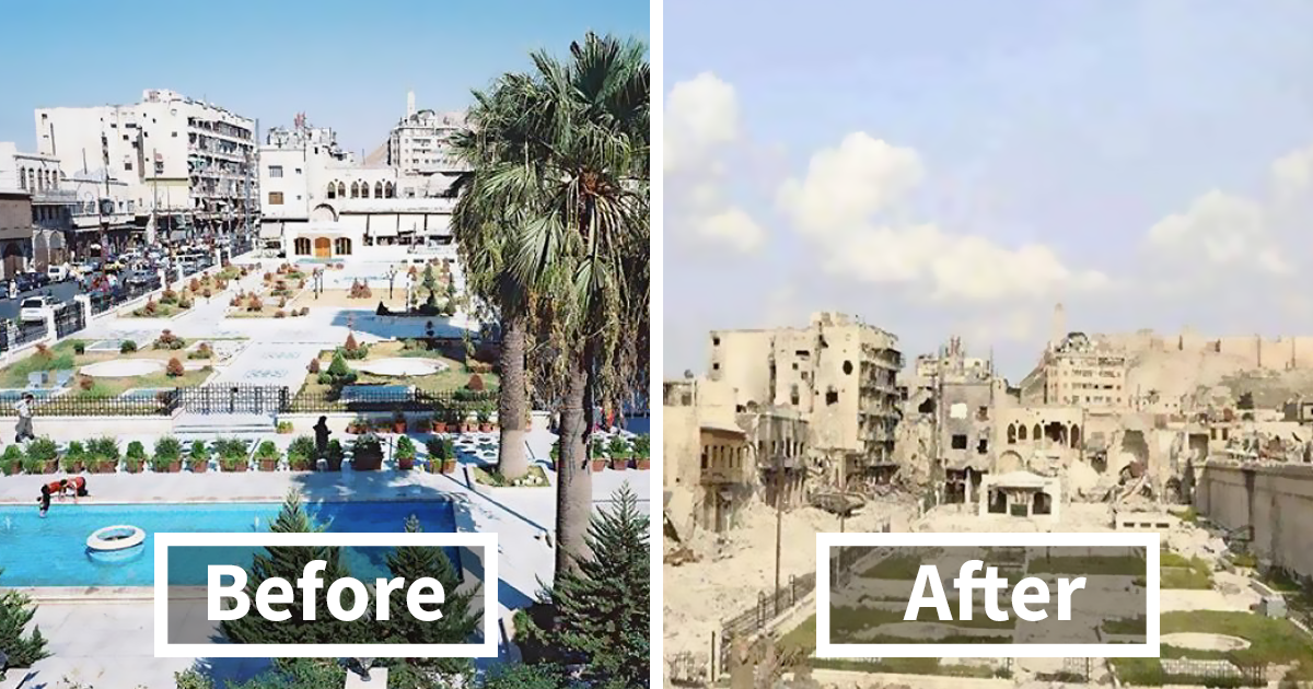 30 Before After Pics Of Aleppo Reveal What War Did To Syria S