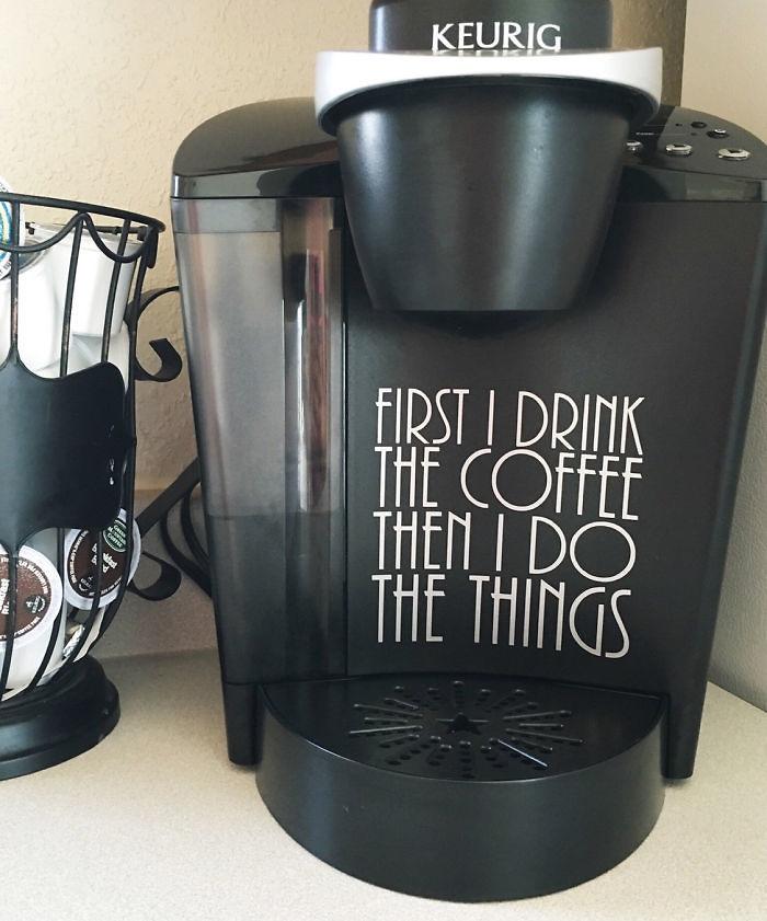 Coffee Maker Decal