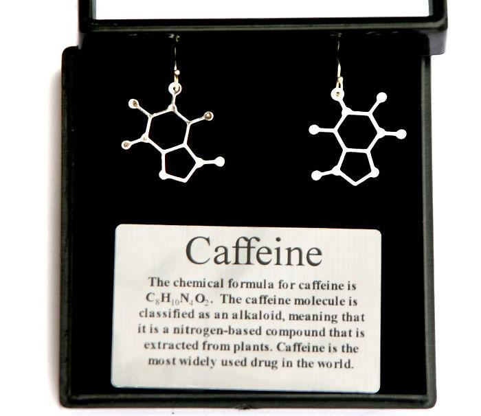 Caffeine Molecule Earrings