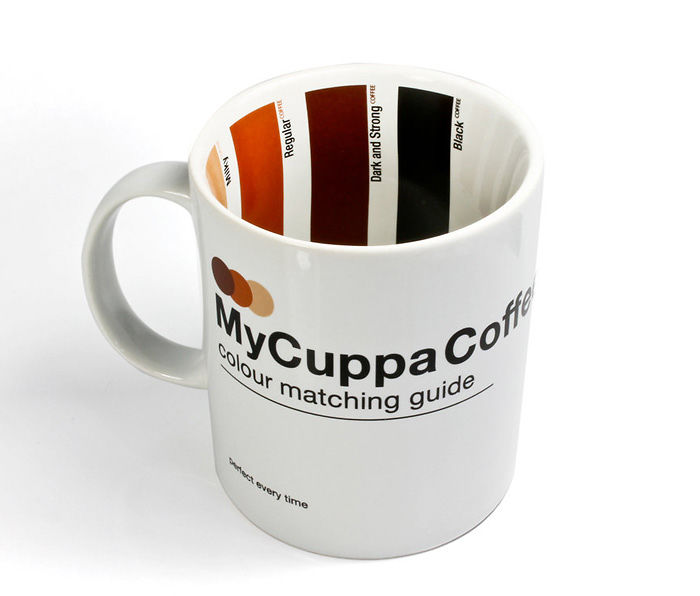 Coffee Mug With Colour Matching Guide