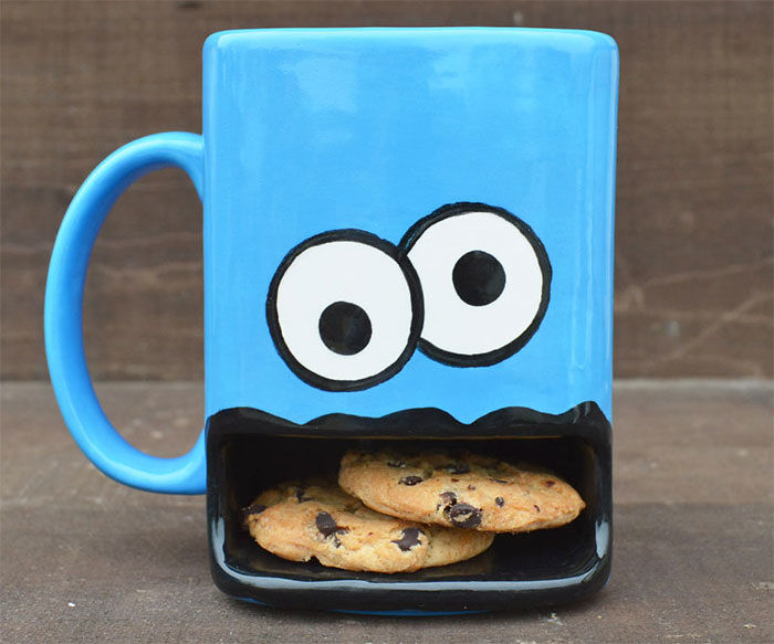 Cookie Monster Coffee Cup