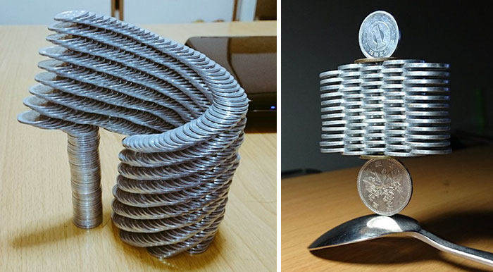 Japanese Guy Stacks Coins Like You Wouldn't Believe