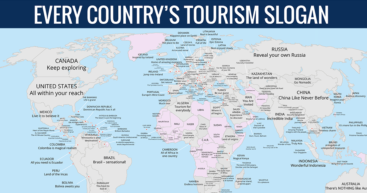 Map reveals every countrys tourism slogan bored panda gumiabroncs Image collections