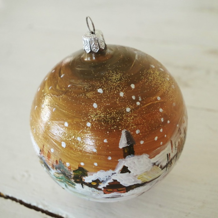 I Paint Winter Landscapes On Christmas Ornaments