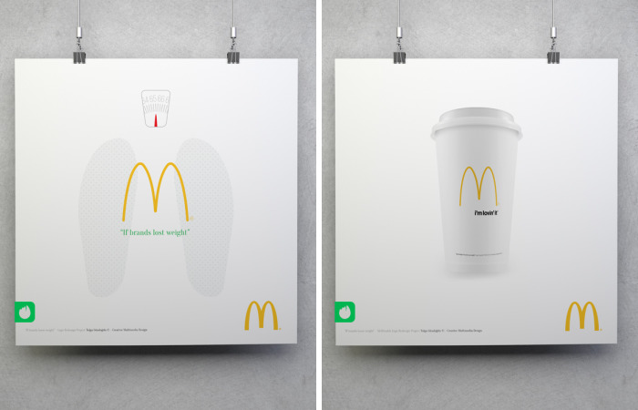 If Brands Lost Weight, How Would They Look?