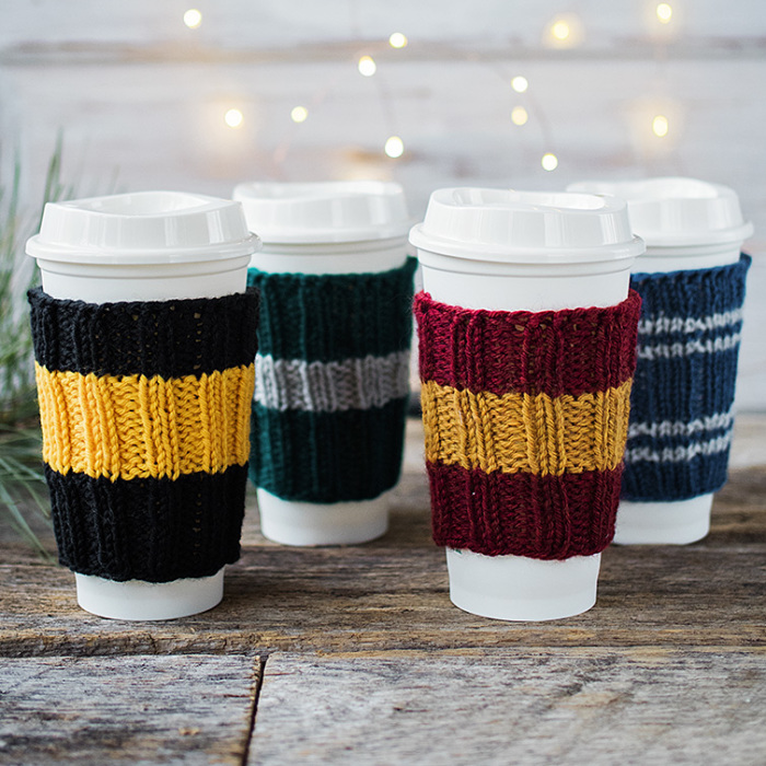 I Designed Knitted Coffee Cup Cozies To Show My Love For Hogwarts