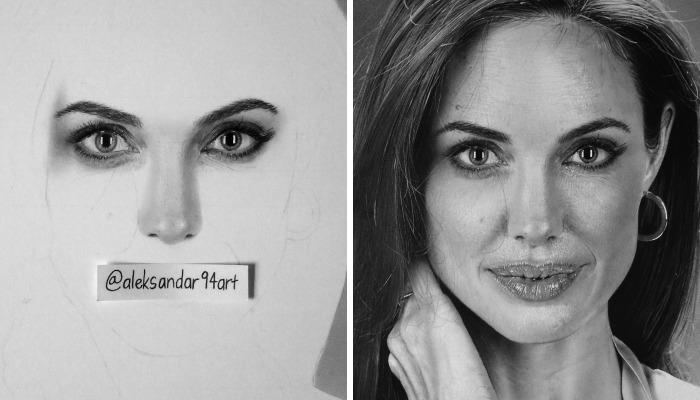 I Draw Realistic Portraits Of Celebrities