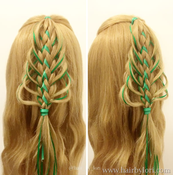 Intricate Christmas Tree Braid