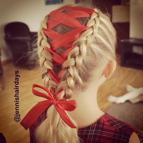 Red Ribbon Braid