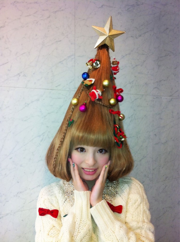 christmas tree hairstyle