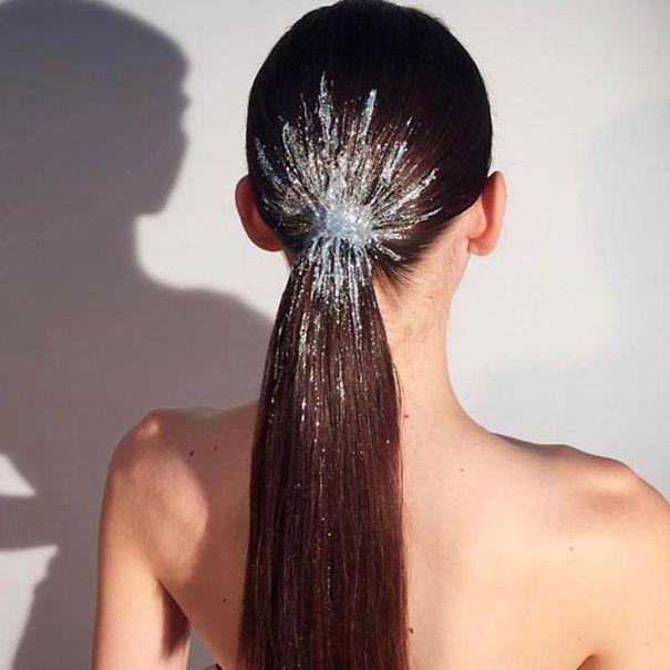 Glitter Ponytail