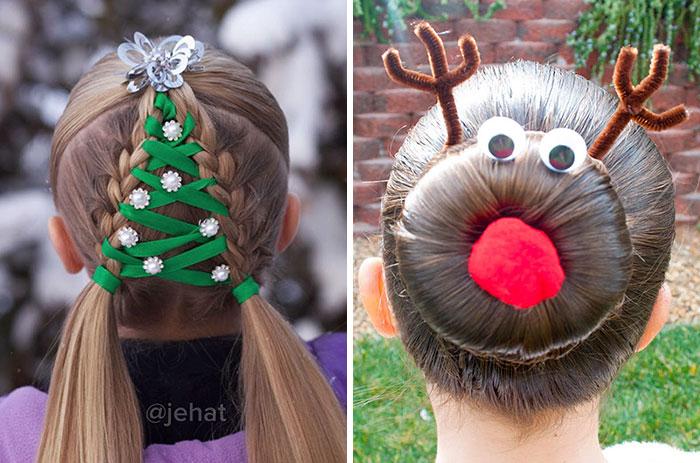 15 Peinados navideños muy creativos