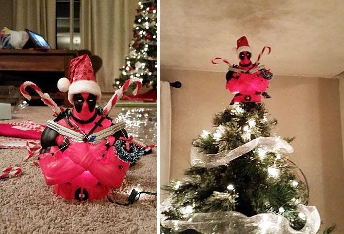 Deadpool Christmas Topper