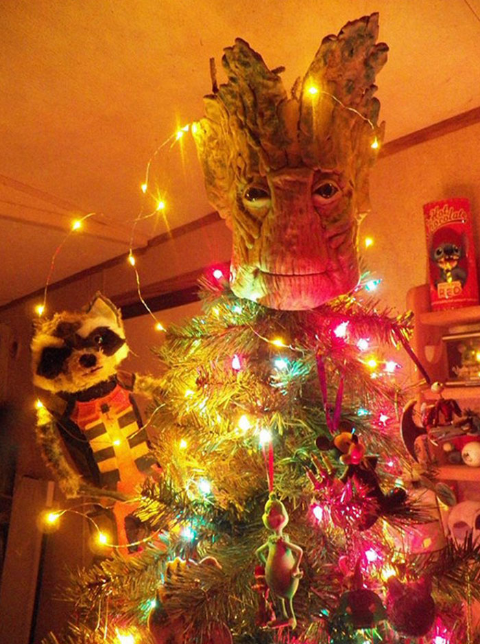 Groot Head Christmas Tree Topper