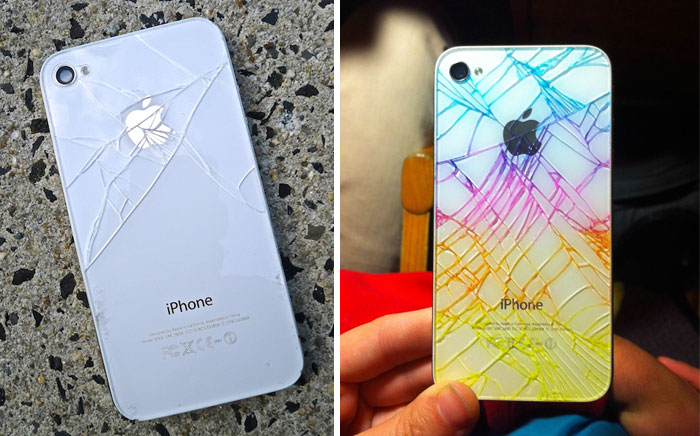 Cracked iPhone Back? Use Highlighters To