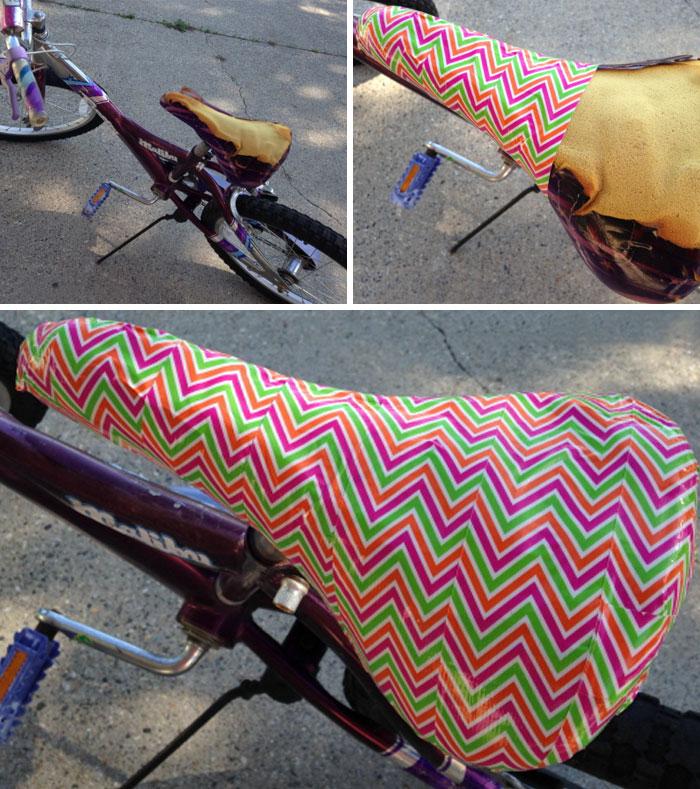 Bike Seat Repair With Duck Tape