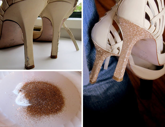 Fix Ruined Heels With Glitter