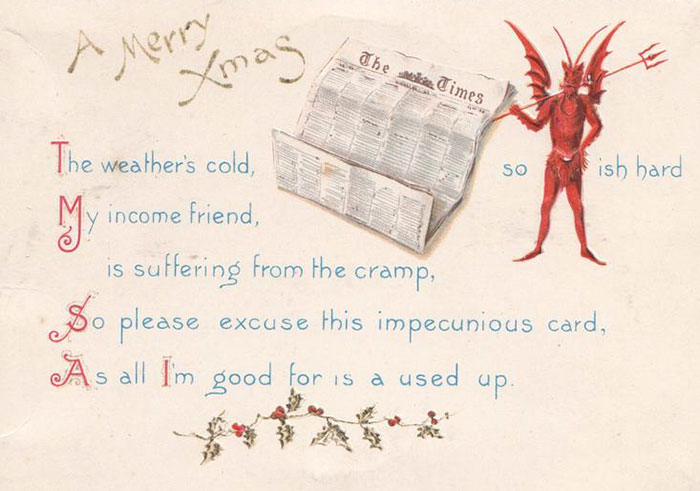 So Please Excuse This Impecunious Card, As All I'm Good For Is A Used Up