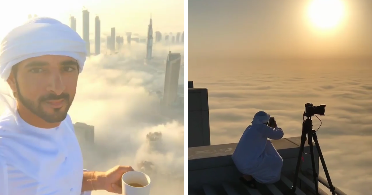 Crown Prince of Dubai Captures His City Above The Clouds, And It