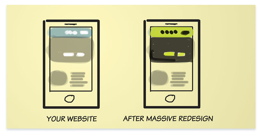 After Massive Redesign The Difference Of Your Website Is Like