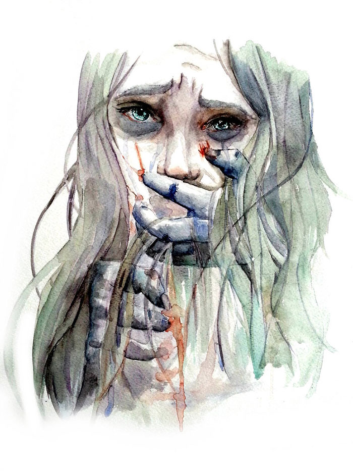100+ Artists Try To Show What Depression Looks Like And ...