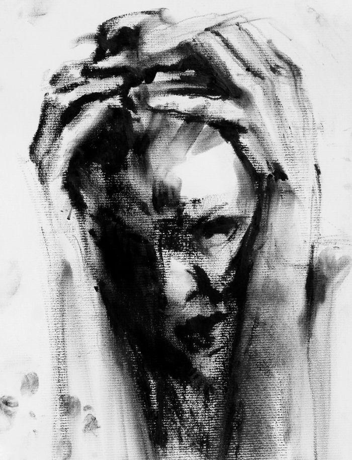 Falling Sketch No. 55