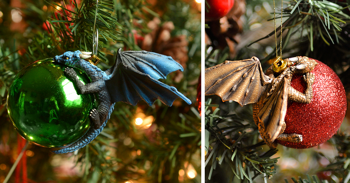 Dragons Protecting Baubles Like Their Own Eggs Is What Your Christmas Tree  Needs This Year | Bored Panda
