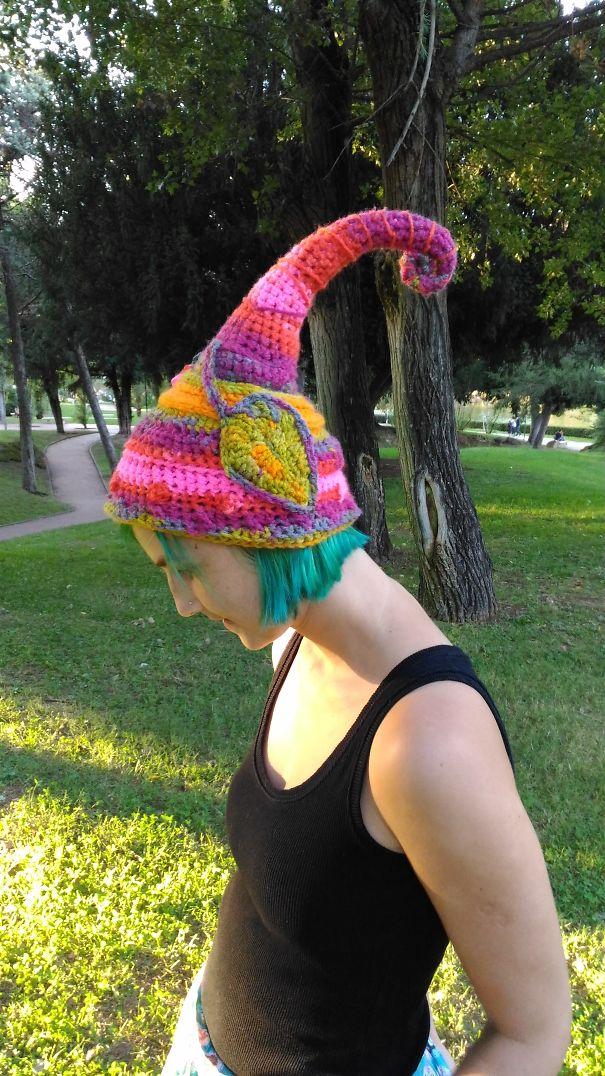 Crochet Leaves Elf Hat
