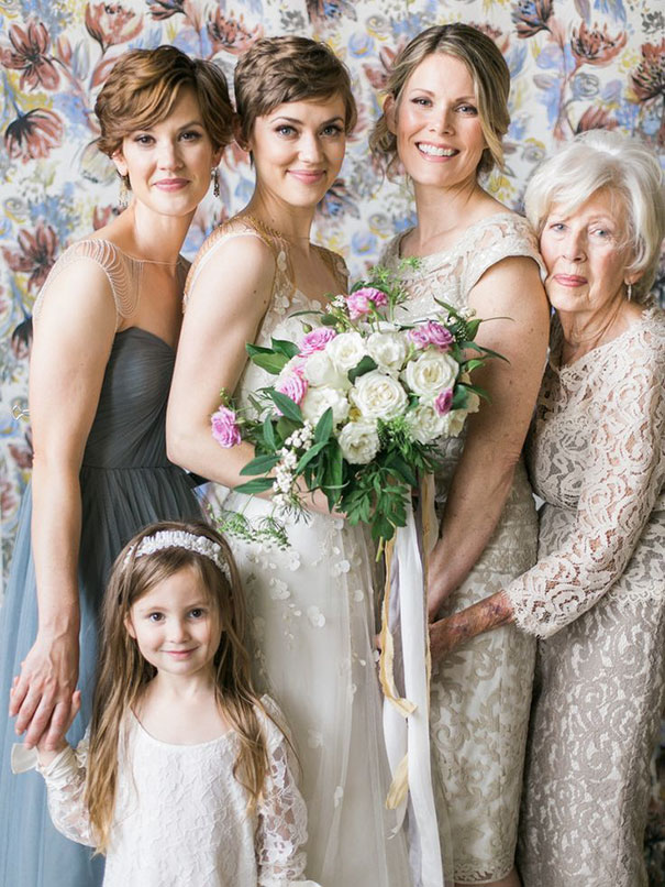 Stunning Shoot Featuring 4 Generations On The Big Day