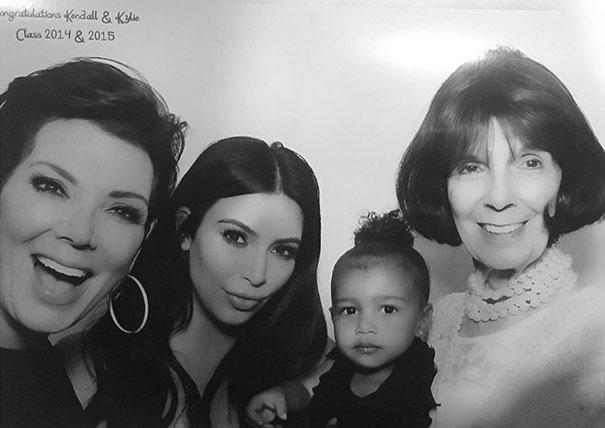Four Generations Of Kardashian Women