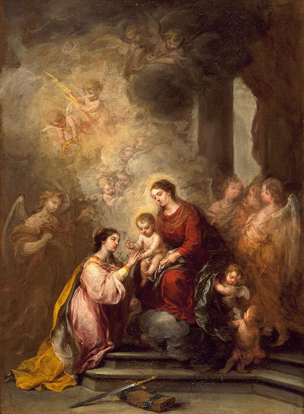 Bartolome Esteban Murillo: The Mystic Marriage Of Saint Catherine (1682)