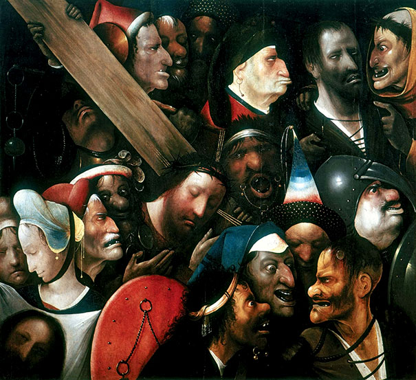 Hieronymus Bosch: Christ Carrying The Cross (1535)