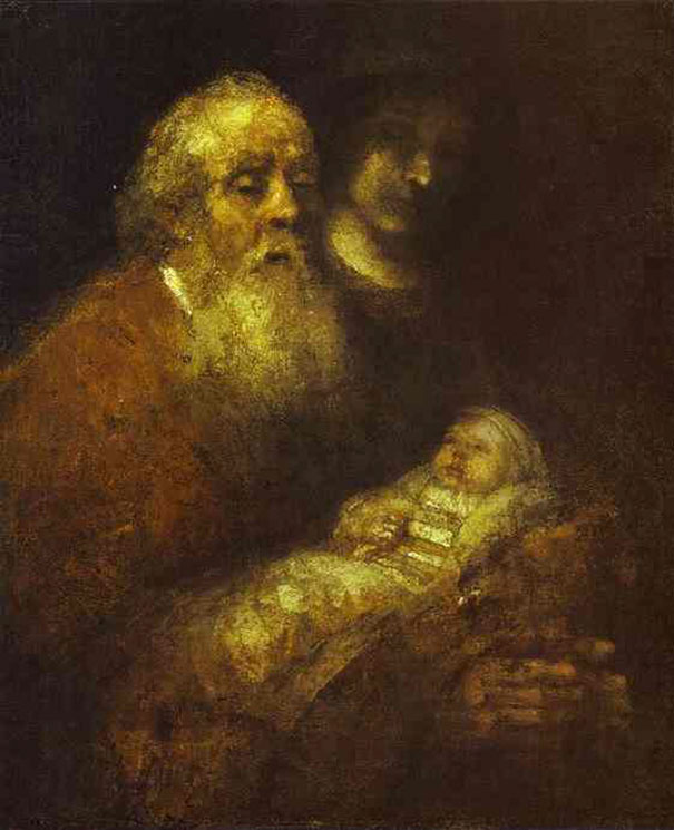 Rembrandt: Simeon With The Christ Child In The Temple, Unfinished (1669)