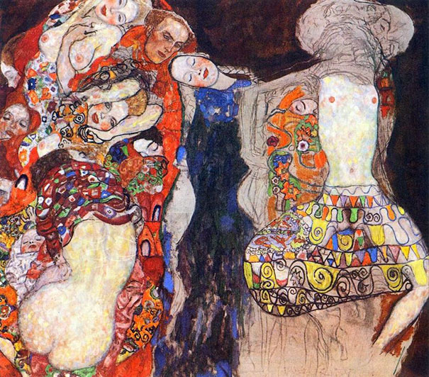 Gustav Klimt: The Bride (1918)