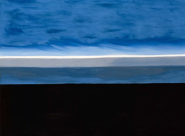 Georgia O'Keeffe: The Beyond, Last Unassisted Oil Painting (1972)