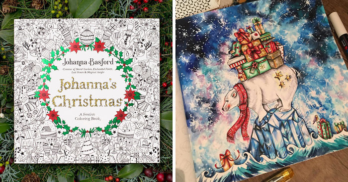 Johanna Basford Christmas Coloring Book.I Spent My Summer Listening To Christmas Tunes To Create