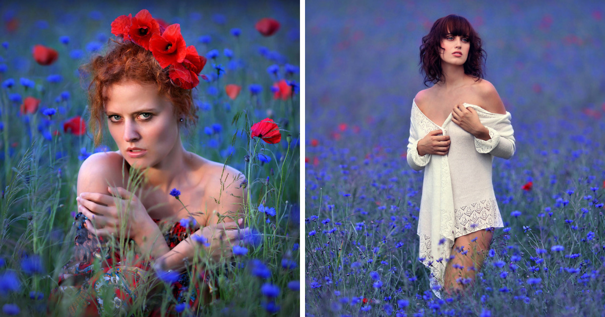 I Photograph 'Mermaids' In The Ocean Of Flowers