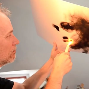 Artist Uses Fire To Create Art