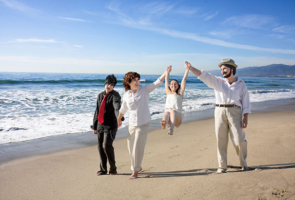 I photoshopped myself to be my own awkward family. Yes, they are all me (bodies included). Yes, I did go to the beach and take the pictures. Yes people did stare. And yes, I did stare awkwardly right back at them. Yes, I did send this out to my family and friends for the holidays