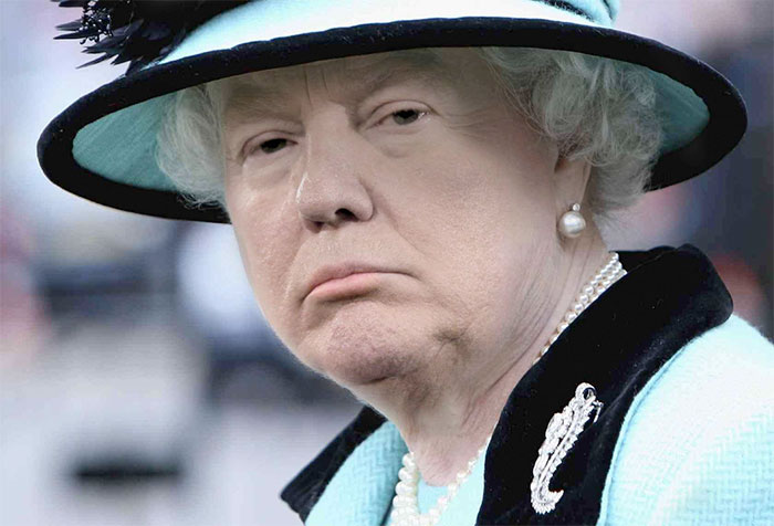 Someone Is Photoshopping Trump's Face On The Queen, And The Results Are Scary