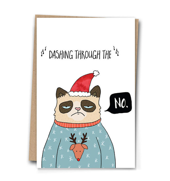 Inappropriate Funny Christmas Card | Bored Panda