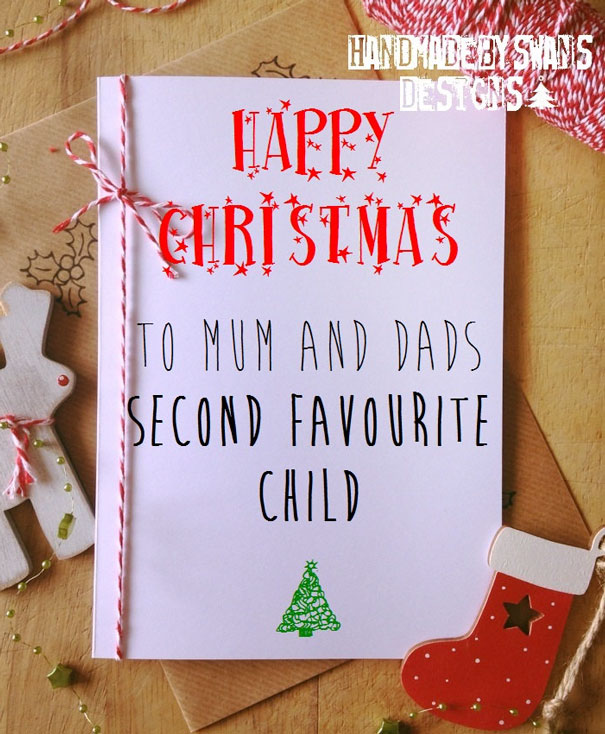 Christmas Card Funny Twisted Candy Cane Holiday Greeting Card Single or Pack of 8